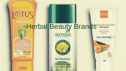 Best Herbal Beauty Brands In India