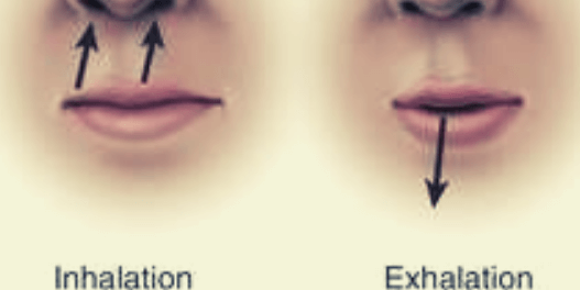 Pursed lip breathing technique
