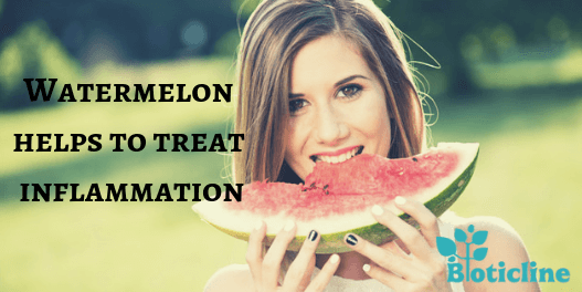 watermelon helps to treat inflammation
